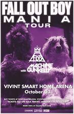 "FALL OUT BOY/FOB ""MANIA TOUR"" 2018 SALT LAKE CONCERT POSTER-Pop / Alt Rock Music"