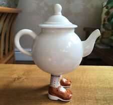 Lustre Pottery Walking Ware Roger Michell Studio 2007 Tea Set Teapot Signed MINT