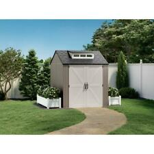 Rubbermaid 7x7 Ft Durable Weather Resistant Resin Outdoor Storage Shed - New