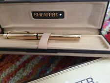 More details for vintage sheaffer fountain pen gold plated with 14k gold nib white dot