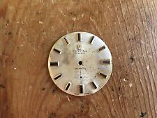 VINTAGE Watch dial FESTINA Incabloc Esfera Reloj  Golden Dorada - 30 mm diameter