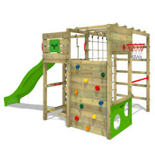 FATMOOSE FitFrame Fresh XXL Wooden Climbing Frame PlayTower Slide PlayGround