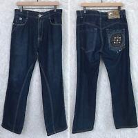 Notorious BIG Loose Baggy Fit Jeans Logo Denim Hip Hop Vintage 90s Mens 36x30