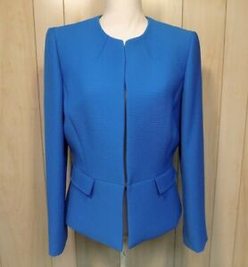 Tahari Arthur S Levine Women's Career Blazer Lined Blue Size 10