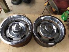 Two 15x7 Chevy Rally Wheels 5 Lug Chevrolet Camaro Nova Chevelle Other 4.75 B.C.