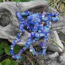 1 Fil de +/- 90 cm Perles Millefiori (Bleu)