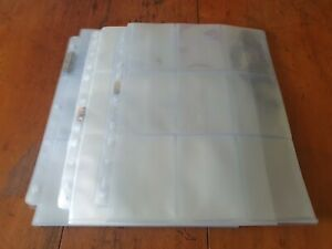 52 Empty Trading Card Collector Sleeve Protector Pages For Album Binder Folder