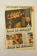 ADVERTISING PUBBLICITA' EROI in azione scattano e sparano MATTEL  - 1975