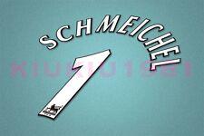 Manchester United Schmeichel #1 PREMIER LEAGUE 97-06 White Name/Number Set