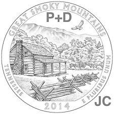2014 P&D Great Smoky Mountains National PARK QUARTER STATE TN SET BU Smokey Mtns