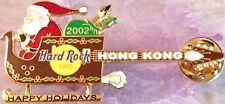 Hard Rock Cafe HONG KONG 2002 CHRISTMAS PIN Santa in Sleigh Guitar - HRC #16233