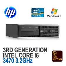 LOT of 2 HP Compaq 6300 Pro SFF Desktop PC Core i5-3470 3.2GHz 4GB 500GB Win 7