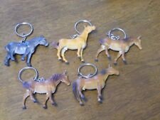 Lot of 5 HORSE KEY CHAIN EQUESTRIAN Stocking Stuffers USA Seller
