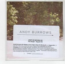 (FE62) Andy Burrows, Keep On Moving On - 2013 DJ CD