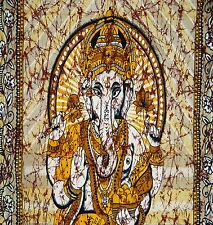 Twin Indian Lord Ganesha Hippie bohomian Tapestries Wall Hanging Urban Bedspread