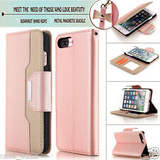 Luxury Magnetic Leather Wallet Card Holder Case Stand Cover for iPhone 7 Plus
