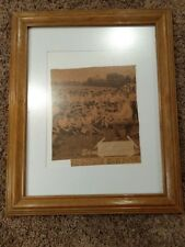 "FRAMED MATTED 11"" X 14"" PIE TRAYNOR SIGNED CUT AUTOGRAPH COA JSA FULL LETTER"