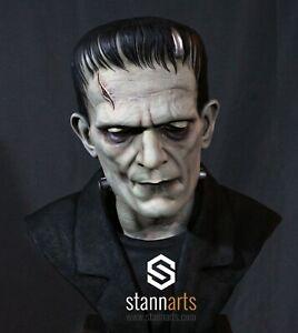 Boris Karloff Life-Size Resin Bust - PAINTED - Frankenstein 1931