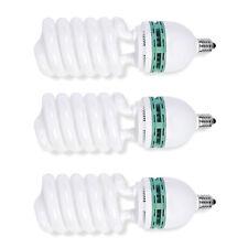 Phot-R 3x Helix Spiral 150W 220V-240V E27 5500K Photo Studio Daylight Bulb Light