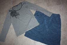 Cecil + schöner blauer Rock und grün weißes Shirt + Gr. M 40 42