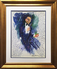 "LeRoy Neiman ""Frank Sinatra - Hofstra"" Newly CUSTOM FRAMED Lithograph Conference"
