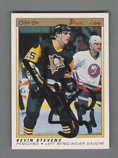 1990-91 OPC Premier Rookie Autograph #111 Kevin Stevens Card Penguins Signature