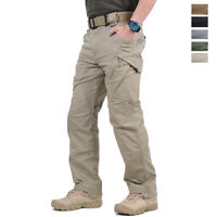 Tactical Men's Outdoor Hiking Pants Urban Police Army Combat Cargo Long Trousers