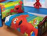 Toddler Elmo Cookie Monster Comforter Set 4 Piece Complete Kids Bed In A Bag