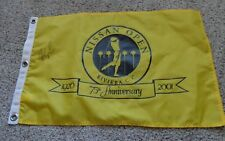 75th anniversary nissan open pin flag signed by fred couples pga