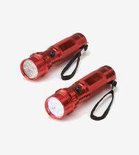 Totes 2 Pack Medium Flashlight Powerful 14 LEDs Per Light-Red - Great Gift Idea!