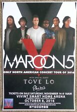 Maroon 5 Gig 2016 Poster Salt Lake City Utah Concert