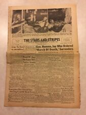 Stars and Stripes Newspaper Sep 16 1945 The Tojo Shooting Gen. Homma Surrenders