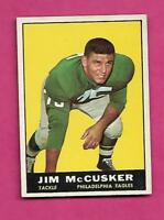 1961 TOPPS # 100 EAGLES JIM MCCUSKER ROOKIE  EX-MT CARD (INV# C0487)