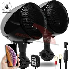 300W Bluetooth Motorcycle Handlebar Audio Amplifier Stereo Speaker System Harley