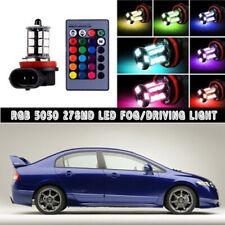 For Honda Civic 2006-2018 RGB Remote Wireless H8 H11 LED Fog Lights Bulbs 1Pair