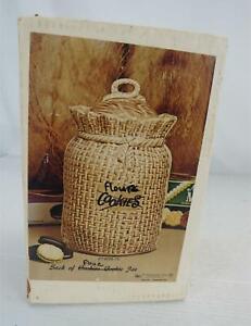 VINTAGE McCoy USA #158 Handcrafted Flour/Cookie Jar Beige Original Box