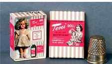 Dollhouse Miniature 1:12  Toni Play Wave Doll Box 1950s retrp dollhouse girl