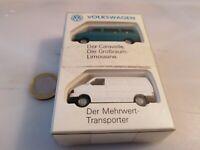 G354 WIKING VW T4 VOLKSWAGEN DER CARAVELLE Bus +  TRANSPORTER H0 Set Werbeset