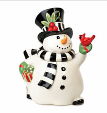 Fitz and Floyd Frosty's Frolic Cookie Jar New in Box