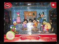 DISNEY Mickey's Christmas Carol Scrooge McDuck Holiday Figurine COLLECTOR set !!