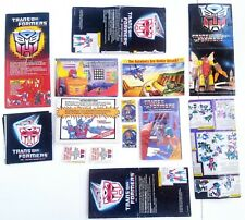 Vintage Transformers g1 promo Insert Brochure Catalog Minicats Booklet comic Lot