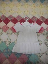 American Fashion World white pleated Tennis Dress, Tennis Racket, Ball
