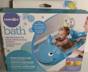 """Inflatable Whale Tub from Babies-R-US ~ 36"""" X 23"""" ~Perfect For Travel~New In Box"""