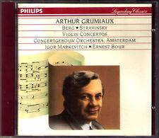 ARTHUR GRUMIAUX: montagne Stravinsky Violin Concerto CD Igor Markevitch Ernest Bour