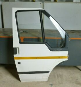 FORD TRANSIT 350 MWB TD 2001 MK 6 O/S DRIVER SIDE COMPLETE FRONT DOOR IN WHITE