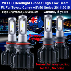 For Toyota Camry ASV50 2012 2013 4x Headlight Globes High Low beam bulbs 32000LM