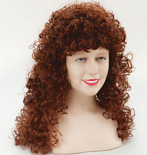 Long Ginger Curly Perm Wig Fancy Dress