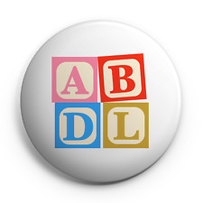 """ABDL - 25mm (1"""") Pin Button Badge - Adult Baby Diaper Lover - Fetish"""