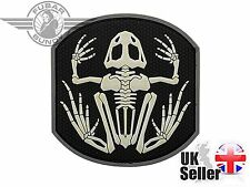 Frog Skeleton PVC 3D Moral Patch with Black / White