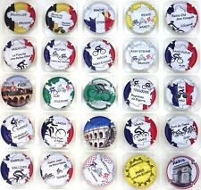 Génériques série de 24 capsules Tour de France 2019 recto vert